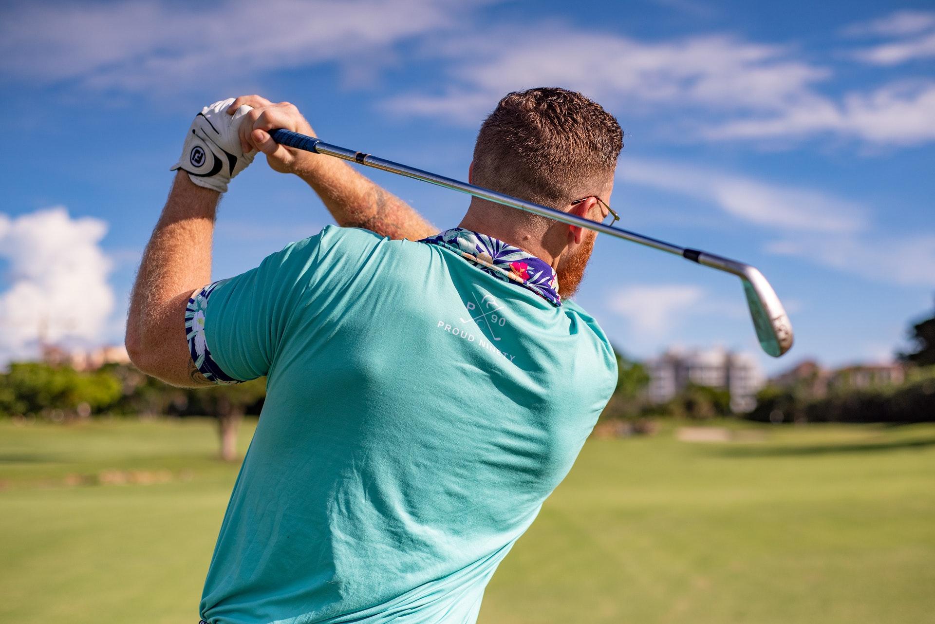 Golfer off Tee